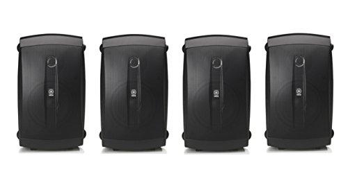 Yamaha High-Performance 120 Watt Natural Surround Sound 2-Way Indoor/Outdoor Weatherproof Home Theater Speakers (Set of 4)