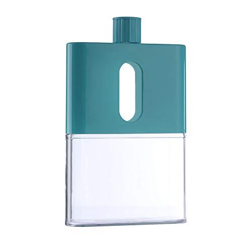 Mini Water Bottle A5 Leak Proof Flat Juice Containers Slim Water Bottle Portable Bottle for Indoor Outdoor Sports Activities Green