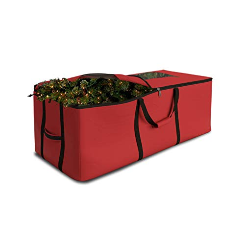 Christmas Tree Storage Bag Waterproof with Padded Carrying Handles & Dual zipper Superior Protection - Extra Large Container Duffle Bag fits up to 9 feet tall Xmas Artificial Tree (Red)
