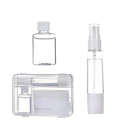 Tragbare Masken-Aufbewahrungstasche und Transparente Leere Sprühflaschen,Staubmasken-Aufbewahrungsbox zur Vermeidung von Maskenverschmutzung, ohne Maske
