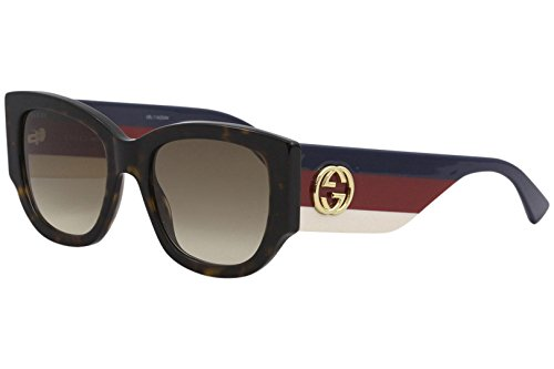 Sonnenbrillen Gucci GG0276S HAVANA/BROWN SHADED Damenbrillen
