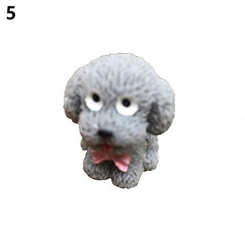 SONIRY 1PC Mikro-Landschaft Puppenstuben Bonsai Ornament Welpen Figuren Niedliche Teddy-Cartoon Hunde Resin Crafts Fy Garten Innendekoration: 5