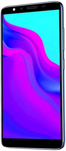 Smartphone 5.72In Alta definición Full Ultra-Thin Smartphone 512Mb + 4Gb Tarjeta Dual Sim para teléfonos móviles Andriod Reconocimiento facial Android Pantalla completa de alta definición-azul Ba