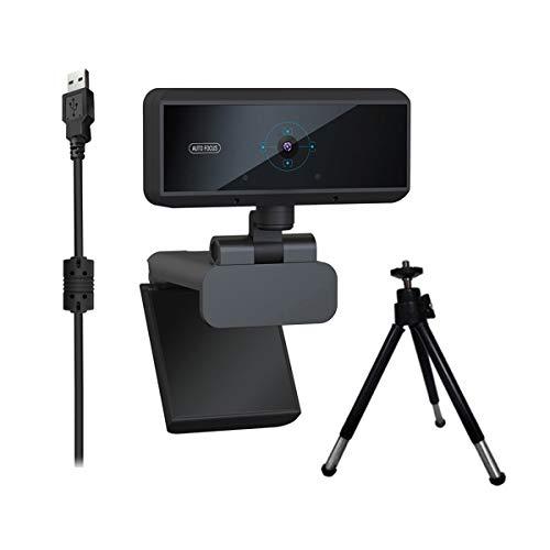 Webcam per PC, Videocamera HD 1080p con Microfono Incorporato e Messa Fuoco Auto, Webcam in Streaming per Desktop Notebook