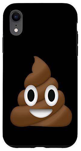 iPhone XR Emoji Poop Pile of Poo Humor Cute Funny Smiley Emoticon Text Case