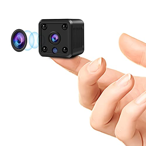 Mini Spy Camera 1080P Wireless WiFi Hidden Camera with Live Feed App and Night Vision, Portable Nanny Cam Baby Monitor with Motion Detection Alerts for Home/Car/Indoor/Outdoor-Built-in Battery