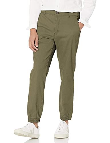 Amazon Essentials Slim-Fit Jogger Pant casual-pants, Verde Oliva, M