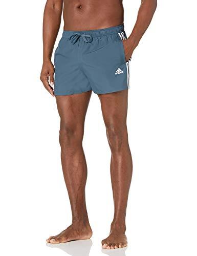 adidas mens 3-Stripes CLX Swim Shorts Legacy Blue Large