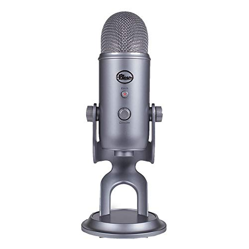 Blue Microphones Yeti USB Microphone for Livestreaming, Podcasts, Voice-Over, Conference Calls, Vocal and Instrument Recording (Cool Grey)