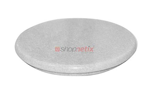 Flawsome Boutique Marble Chakla Roti Maker Rolling Board (9 Inch, White)