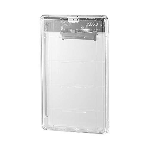 Winbang SATA HD Box, 2.5 Pulgadas USB HUB 3.0 SATA HD Box Unidad de Disco Duro SSD HDD Caja HDD Externa Caja Transparente Transparente (Estilo Transparente 1)