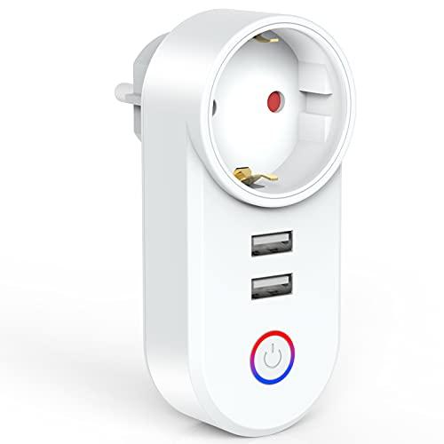 UniHom Enchufe inteligente wifi Alexa, enchufe de 16 A, compatible con Alexa, Echo y Google Home e IFTTT y sonido AI, solo admite red de 2,4 GHz (1)
