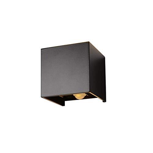Klighten Lámpara de pared para exteriores de 12W, con detector de movimiento, auto encender y apagar, para jardín, camino, Blanco cálido, Negro