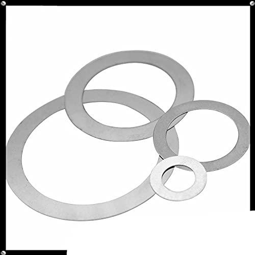 Junta de ajuste de arandela de barrera de acero inoxidable ultrafina, almohadilla plana pequeña, 10 unidades, 8 x 14 x 0,5