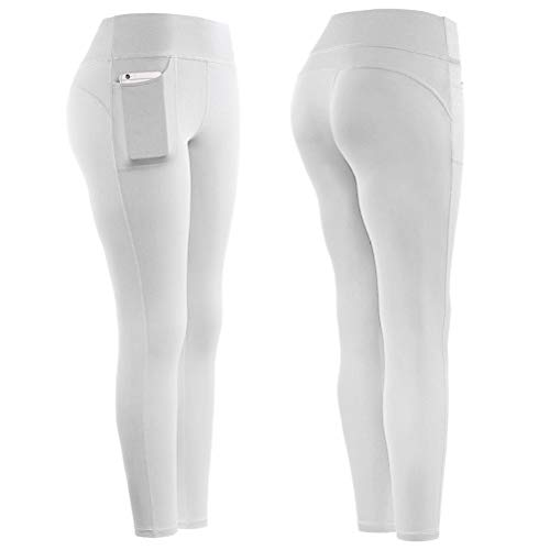 Einsgut Dameslegging, sportyogabroek, gewichtsverlies, sauna broek, afslanken, leggings joggen, fitness, hot thermo, sweatgym Large wit