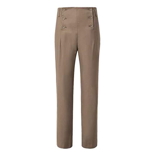 CLOOM Pantalones De Traje para Hombre del Ceremonia, Oficina, Fiesta De Bodas Retro Slim Fit Pantalón De Cintura Alta Color Sólido Trajes Medievales