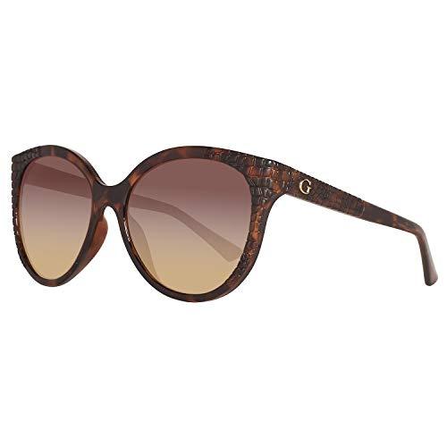 Guess GU 7402 Gafas de sol, Marrón (Dark Havana/Brown