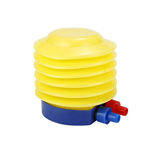 TENKY Bomba de Aire de Pie Inflable de Plástico Inflador de Bomba de Aire de Pie Amarillo Brillante/Azul
