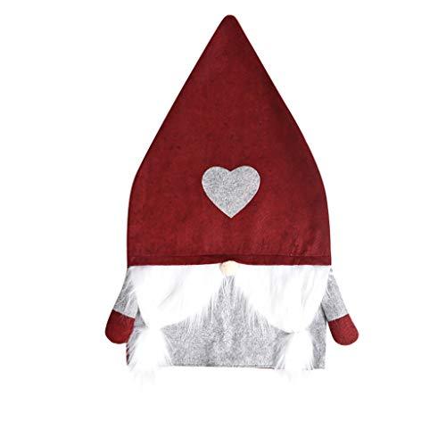 Zarupeng Coprisedia elasticizzato, 1/2/3 pezzi, coprisedia elasticizzato, coprisedia con Babbo Natale, in tessuto elastico, per marito e moglie Colore: rosso S