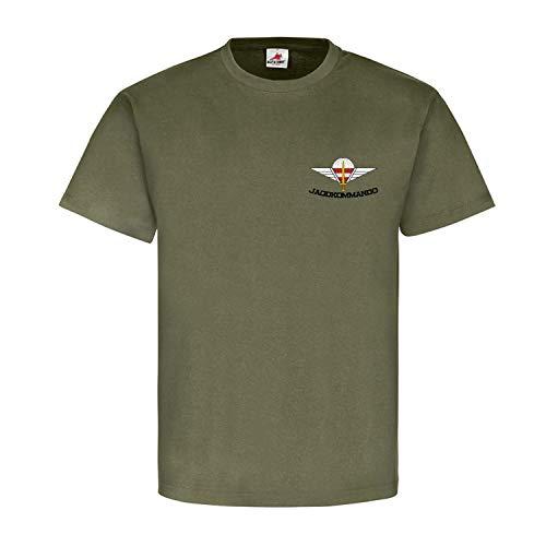 Jagdkommando Brust Logo JaKdo Bundesheer Österreich Austria Spezialeinheit Wiener Neustadt Reservist Veteran T-Shirt #18833, Größe:M, Farbe:Oliv