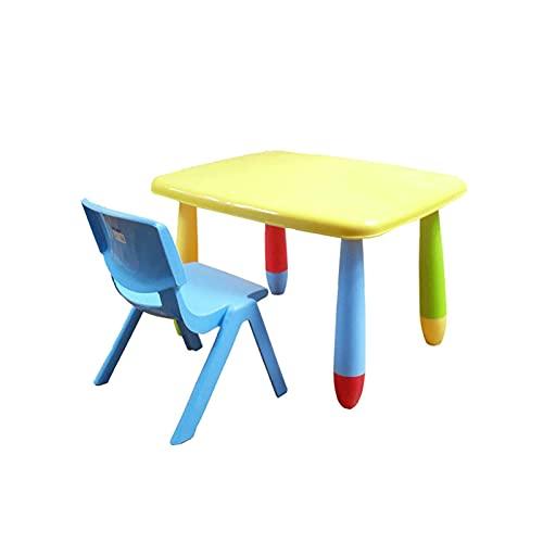 BDesign KINDER TABELLE SET Studing Activity Indoor oder Outdoor-Gebrauch Kleinkind Kinder Kinder Kunststoff Tisch und Stühle Set Schreibtisch und Stuhl für Kinder (Farbe: Farbe) ZDWN (Color : Color)