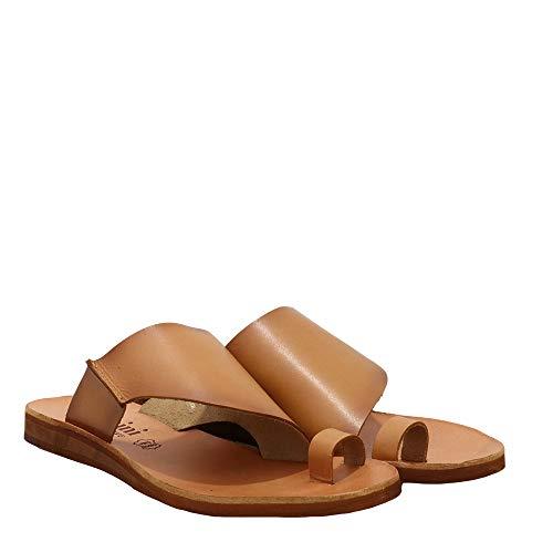 Felmini - Zapatos para Mujer - Enamorarse com CAROLINA2 C288 - Mules - Cuero Genuino - Marrón - 38 EU Size