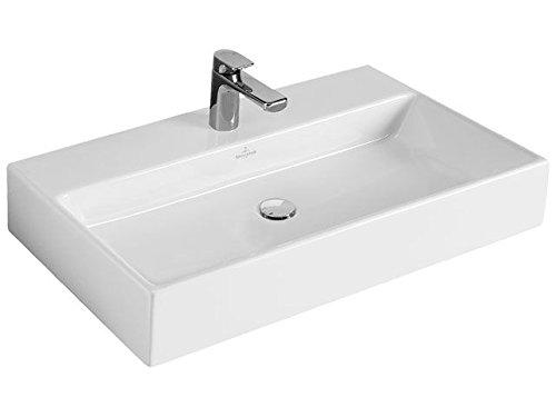 Villeroy & Boch Waschbecken MEMENTO 51338L 80x47cm mit Hahnloch durchgestochen mit Überlauf weiß, 51