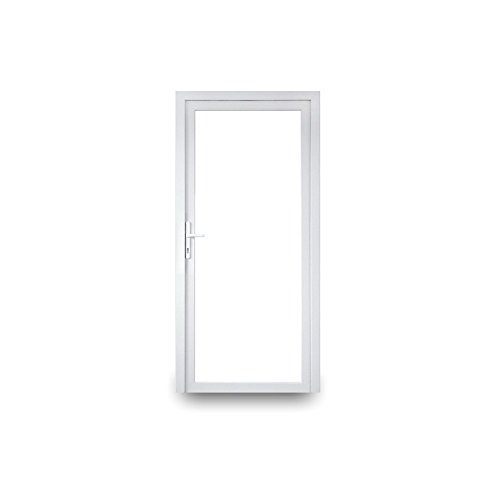 Nebeneingangstür - 2-fach-Verglasung - 60mm Profil - Ganzglas - innenöffnend - BxH: 1000 x 2200 mm - DIN Links