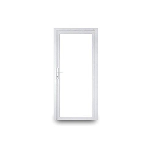 Nebeneingangstür - 2-fach-Verglasung - 60mm Profil - Ganzglas - innenöffnend - BxH: 1000 x 2100 mm - DIN Links