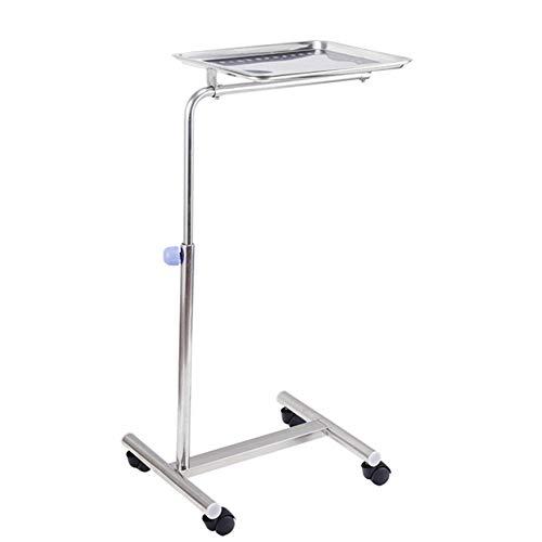 Mobile Instrumentenständer mit Service-Tray & Räder - Edelstahl-Service-Trolley für Medizinische Ausrüstung Zu Hause, Heavy-Duty (Size : Single Pole)