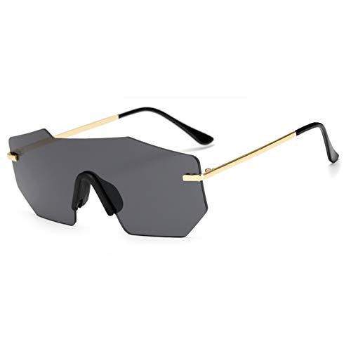 WZYMNTYJ Übergroße Frauen Sonnenbrillen Einzigartige Randlose Verspiegelte Linse Mode Männer Sonnenbrille große sommerbrille Für Frauen/Männer