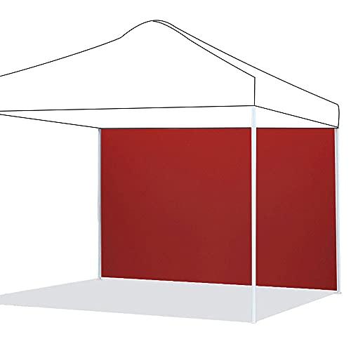 Paneles laterales para cenador impermeable, panel lateral Gazebo de tela Oxford 210D, panel lateral de repuesto para cenador de jardín exterior (rojo, ordenador)