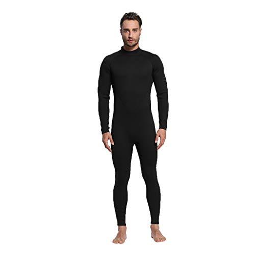 LOPILY Herren Surfbekleidung Neoprenanzug Schwimmen Surfen Tauchen Sport Badeanzug Taucheranzug Wassersport Anzug Schnelltrocknend Schnorcheln Badebekleidung(Schwarz,L)