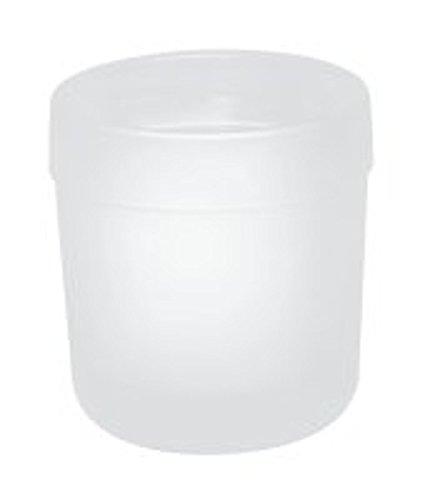 HEWI Glasbecher Serie 477 flachbodig matt weiß