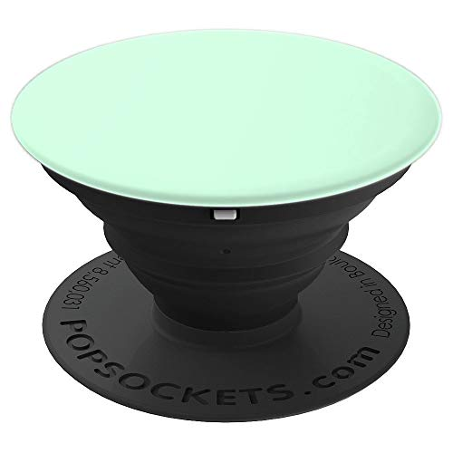 Pale Green Summermint Pastel Green Mint PopSockets Grip and Stand for Phones and Tablets