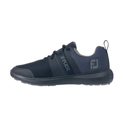 FootJoy Women's Flex Previous Season Style Golf Shoe, Black/Charcoal, 8