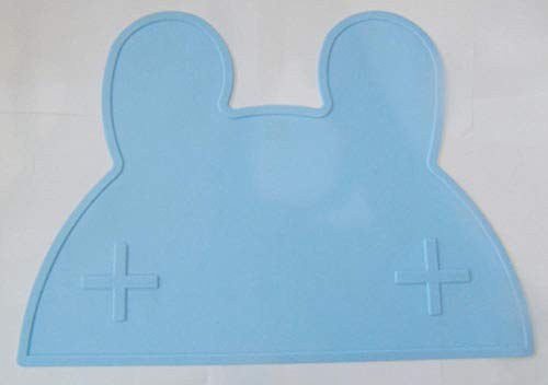 Xixihaha Cartoon Imperméable Napperon Silicone Bébé De Table Tapis Qualité De Gel De Silice for Enfants Art De La Table Tapis De Grande Taille (Color : Rabbit Blue)