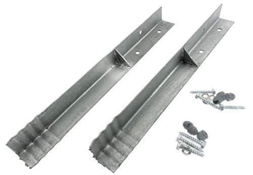 HOQ 2 x Sicherheits-Winkelanker 45x45x500mm Bodenanker Schaukelanker Spielturm Erdanker für Spieltürme, Schaukeln, etc.