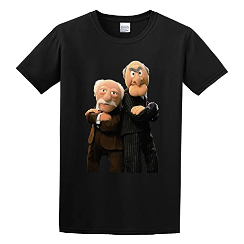 The Muppets Grumpy Old Men Funny Retro Man Statler and Waldorf Graphic Top Printed Shirt Short Sleeve tee Mens T Shirt Black L