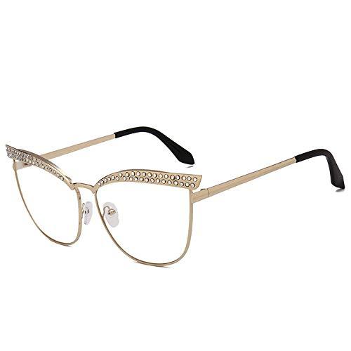 ZZZXX Funda Gafas De SolGafas De Sol Cat Eye Con Diamantes Polarizadas Uv400 Protección Para Conducir Pesca Al Aire Libre Marco De Acetato,Con Caja De Regalo Y Paño Para Vasos