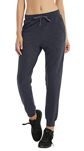 RlaGed Women's Cotton Running Sweatpants Lounge Casual Athletic Sweat Pants Workout Yoga Joggers with PocketsGrey S