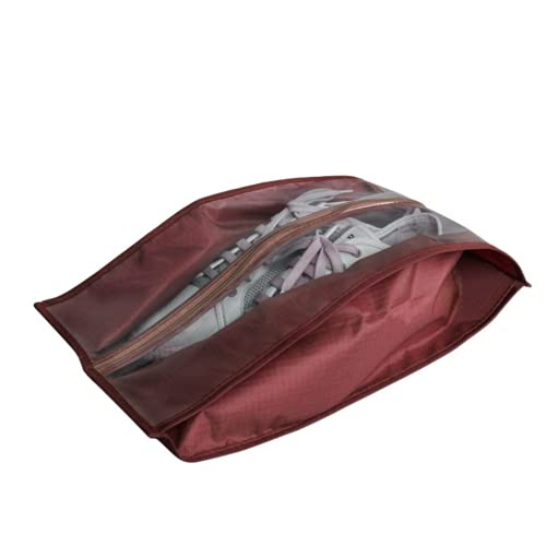 HNZNCY Bolsa impermeable para zapatos de viaje, portátil, bolsa de almacenamiento de zapatos, para el hogar, a prueba de polvo, organizador para zapatos (carmesí)