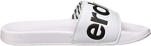 Superdry Herren Dusch-& Badeschuhe SUPERDRY POOL SLIDE, Mehrfarbig (Optic White/Dark Navy/Hazard O X2s), 40/41 EU