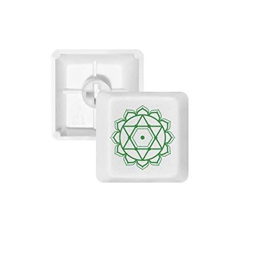 DIYthinker Bloemenpatroon Geometrie Ster Symbool PBT Keycaps voor Mechanisch Toetsenbord Wit OEM Geen Markering Print, R4, Multi kleuren