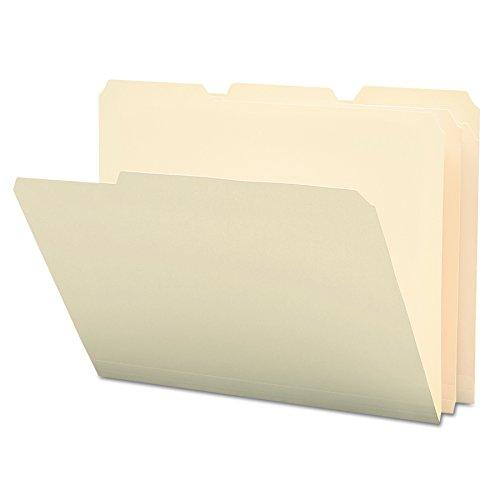 Smead Poly File Folder, 1/3-Cut Tab, Letter Size, Manila, 12 per Pack (10510)