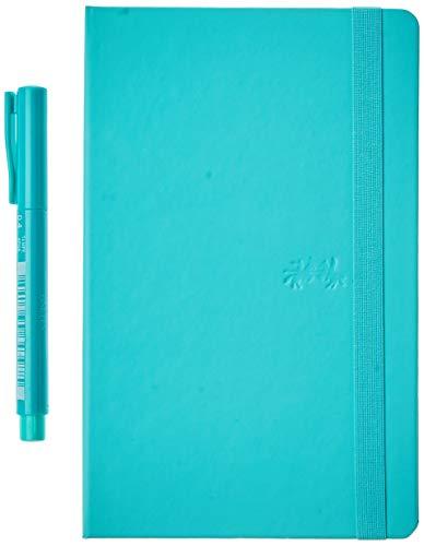 Caderno Pontilhado + Fine Pen, Faber-Castell, CDNETA/VD, Creative Journal, 20x12.5cm, Verde, 84 Folhas