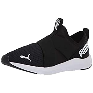 PUMA Women's Prowl Slip On Sneaker, Black White, 8.5 M US