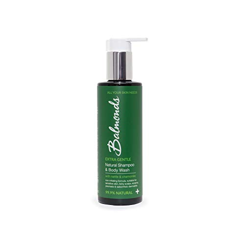 Balmonds Natural Shampoo & Body Wash 200 ml - 99.9% Natural, Extra Gentle Body Wash and Shampoo - Natural Shampoo Suitable For Sensitive Skin and Itchy Scalp
