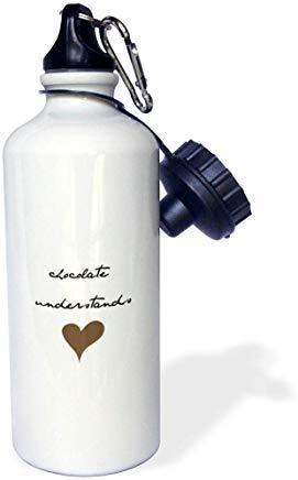 Queen54ferna Nicole R Zitat Bild von Schokolade versteht Aluminium Sport Wasserflasche weiß Wandern Gym Schule Camping Wasserflasche für Herren Frauen Kinder