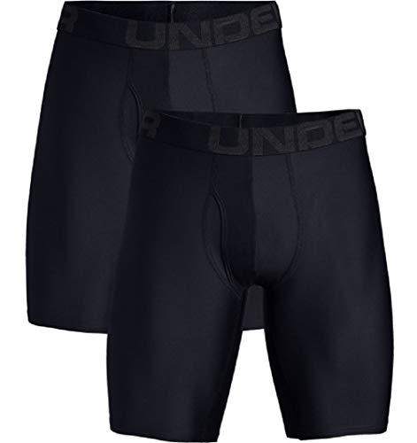Under Armour Men's Tech 9-inch Boxerjock 2-Pack , Black (001)/Black , Large